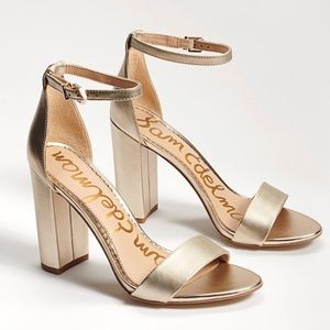 Sam Edelman Yaro gold sandals